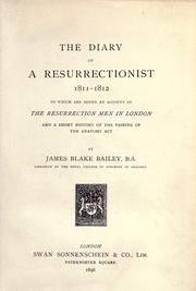 Cover of: The diary of a resurrectionist 1811-1812