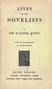 Cover of: The lives of the novelists