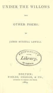Cover of: Under the willows, and other poems