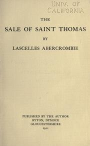 Cover of: The sale of Saint Thomas: in six acts