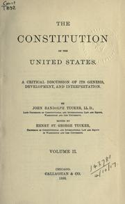 Cover of: The Constitution of the United States
