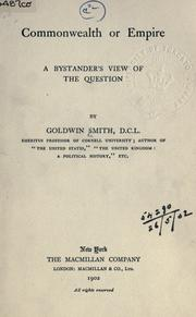 Cover of: Commonwealth or empire