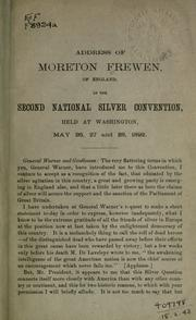 Cover of: Address of Moreton Frewen