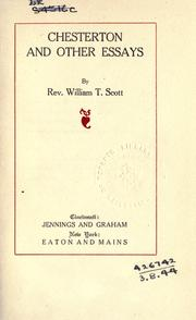 Cover of: Chesterton, and other essays