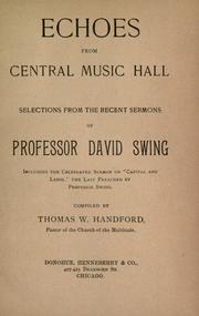 Cover of: Echoes from Central Music Hall