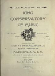 Catalogue of the King Conservatory of music