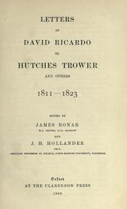 Cover of: Letters to Hutches Trower and others, 1811-1823