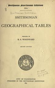 Cover of: Smithsonian geographical tables