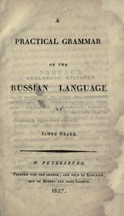 Cover of: A practical grammar of the Russian language