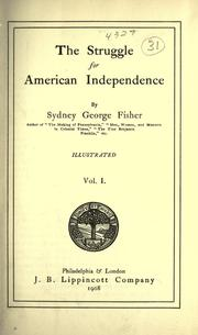 Cover of: The struggle for American independence