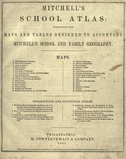 Cover of: Mitchell's School atlas: comprising the maps and tables designed to accompany Mitchell's school and family geography.