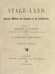 Cover of: Stage-land