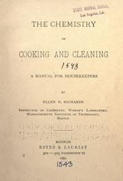 Cover of: The chemistry of cooking and cleaning