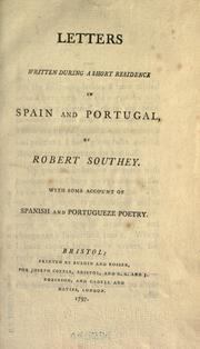 Cover of: Letters written during a short residence in Spain and Portugal