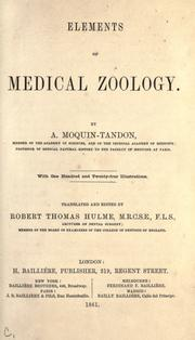 Cover of: Elements of medical zoology