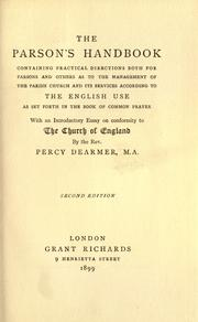 The parson's handbook by Dearmer, Percy