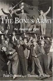 Cover of: The Bonus Army | Paul Dickson