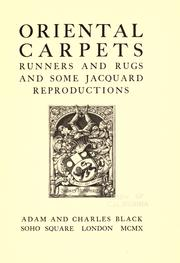 Cover of: Oriental carpets, runners and rugs and some Jacquard reproductions ..