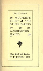 Cover of: Wolfert's roost and other papers