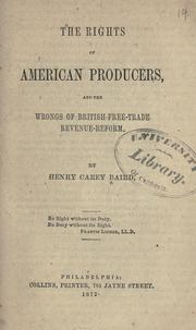 Cover of: The rights of American producers