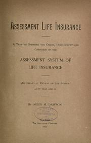 Cover of: Assessment life insurance