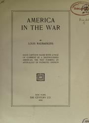 Cover of: America in the war