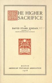 Cover of: The higher sacrifice