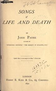 Cover of: Songs of life and death