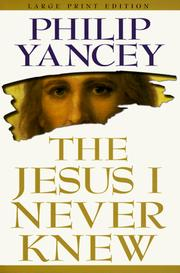 Cover of: The Jesus I never knew