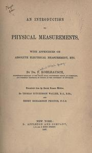 Cover of: An introduction to physical measurements
