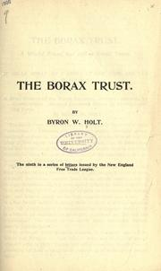 Cover of: The borax trust