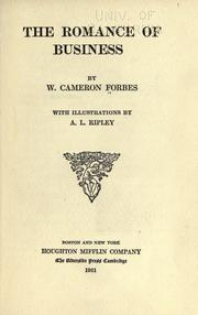 Cover of: The romance of business