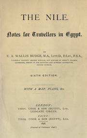 Cover of: The Nile, notes for travellers in Egypt