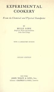 Cover of: Experimental cookery by Belle Lowe