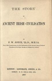 Cover of: The story of ancient Irish civilization