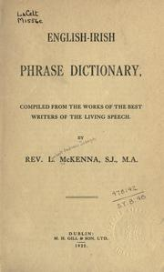 Cover of: English-Irish phrase dictionary by Lambert Andrew Joseph McKenna