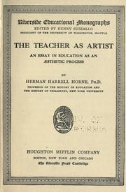Cover of: The teacher as artist