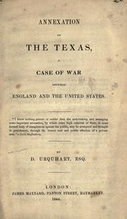 Cover of: Annexation of the Texas