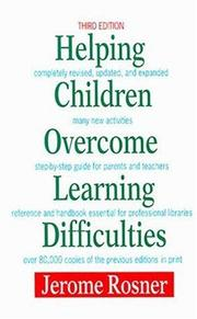 Cover of: Helping children overcome learning difficulties | Jerome Rosner