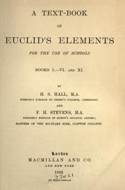 Cover of: A text-book of Euclid's Elements for the use of schools: Books I-VI and XI.