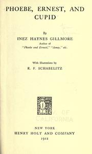 Cover of: Phoebe and Ernest