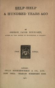 Self-help a hundred years ago by George Jacob Holyoake