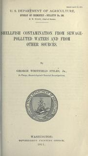 Cover of: Shellfish contamination from sewage-polluted waters and from other sources