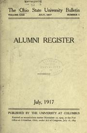 Cover of: Register of graduates and members of the Ohio State University Association, 1878-1917