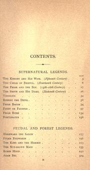 Cover of: Tales and legends of national origin