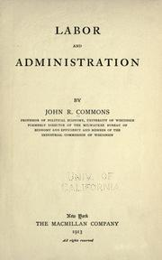 Cover of: Labor and administration