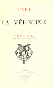 Cover of: L' art et la médecine