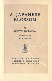 Cover of: A Japanese blossom