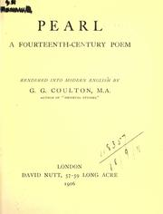 Cover of: Pearl, a fourteenth-century poem |