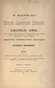 Cover of: A reprint of the North American zoology
